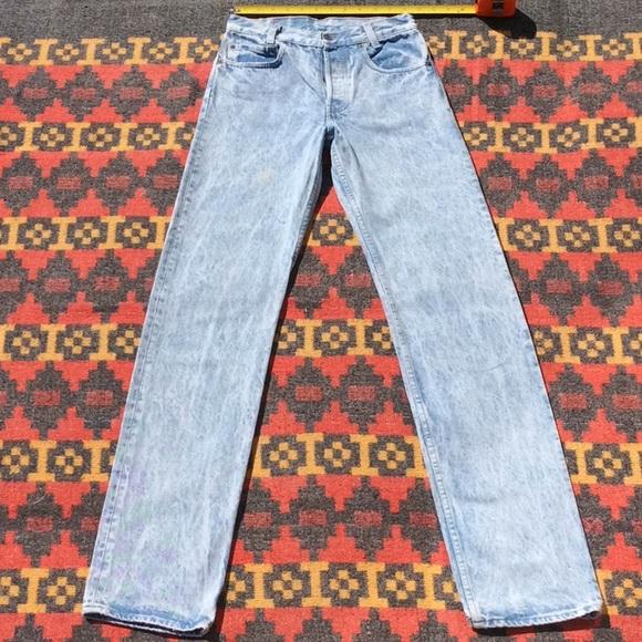 f4503172 Levi's Jeans | True Vintage 8990s 701 Levis Acid Wash Jean | Poshmark